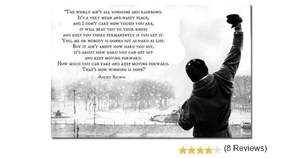 LERJIMUX Tomorrow Sunny Rocky Balboa Motivational Quotes Art Silk Poster Wall Decor 47 inch x 32 inch