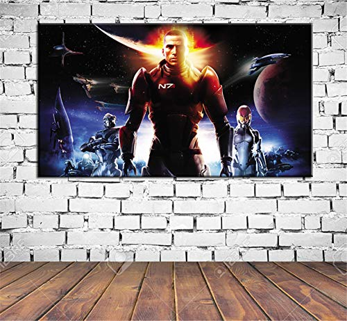 lihuaiart Canvas Wall Art Home Wall Decorations for Bedroom Living Room Oil Paintings Canvas Prints mass effect,soundtrack 20x36inch