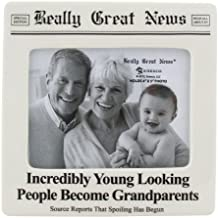 """Our Name is Mud """"Incredibly Young Grandparents"""" Really Great News Ceramic Photo Frame, 4""""x5"""""""