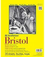 "Strathmore 300 Series Bristol Vellum Pad, 14""x17"", Tape Bound, 20 Sheets"