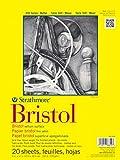 Strathmore 342-119 300 Series Bristol Vellum Pad, 19''x24'' Tape Bound, 20 Sheets