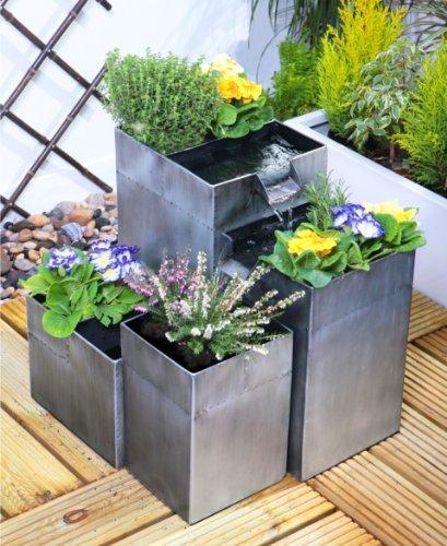 Bepflanzbarer Kaskadenbrunnen Daintree - Silber