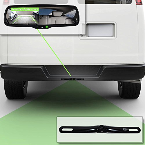 Pyle Backup Car Camera Rear View Mirror Screen Monitor System with Parking & Reverse Safety Distance Scale Lines, OEM Fit, Waterproof & Night Vision, 170° Angle Adjustable, 4.3'' LCD Display-(PLCM4550) by Pyle (Image #4)