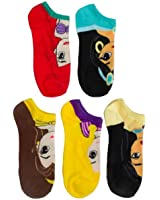 Disney Women's Princess 5 Pack No Show Socks