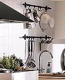 Ikea Steel Kitchen Organizer Set, 22.5-inch Rail, 5