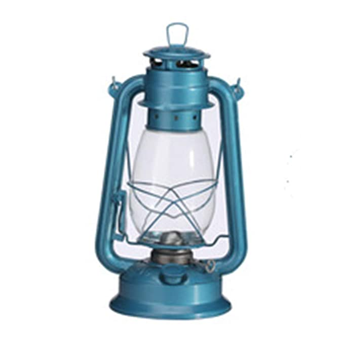 Retro Kerosene Lampe Wrought Iron und synthetische Glass Portable Outdoor Tent Lighting Outdoor Survival Equipment Vintage Re