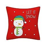 BONJIU Christmas Red Pillow Cases Christmas