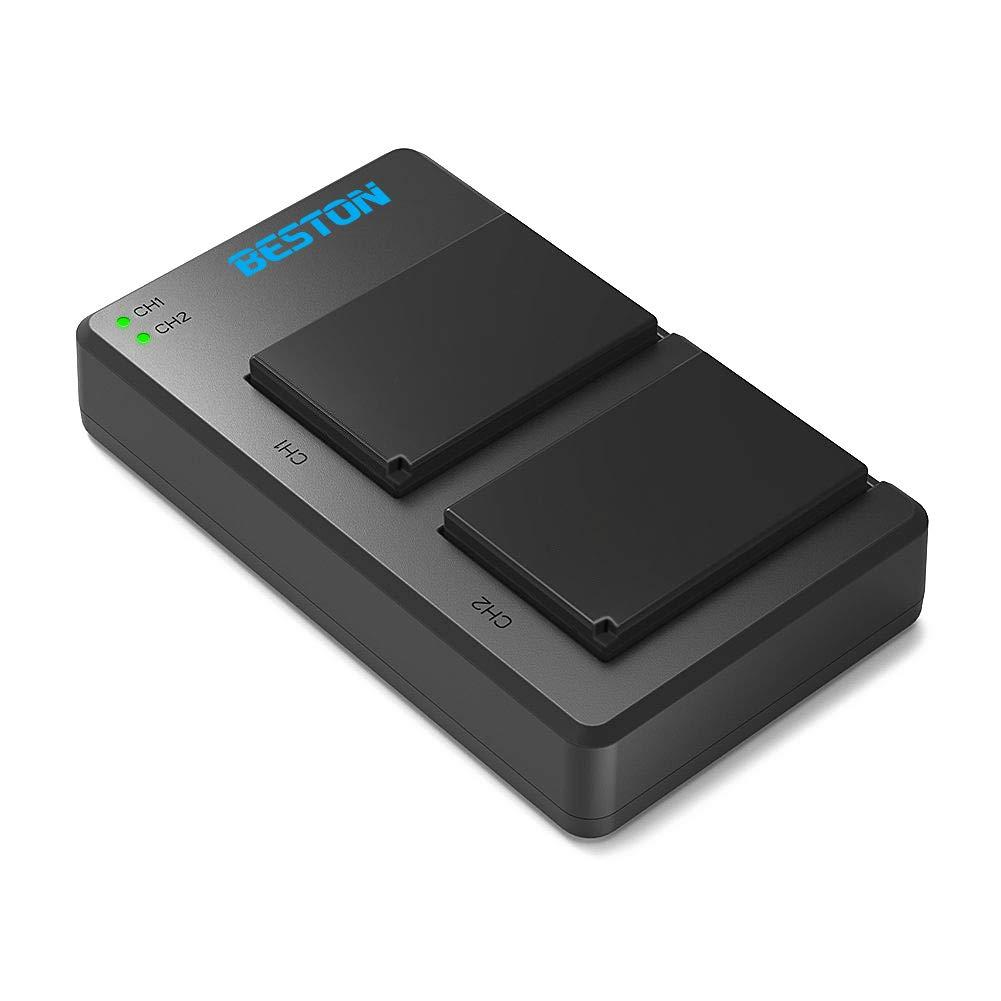 BESTON 2-Pack NP-W126/ NP-W126S Li-ion Battery Packs and Rapid USB Charger for Fujifilm X100F XT3 XT2 XT1 XT30 XT20 XT10 XT100 XA5 XE3 X-H1 X-M1 X-Pro2 X-Pro1 Cameras and More by BESTON