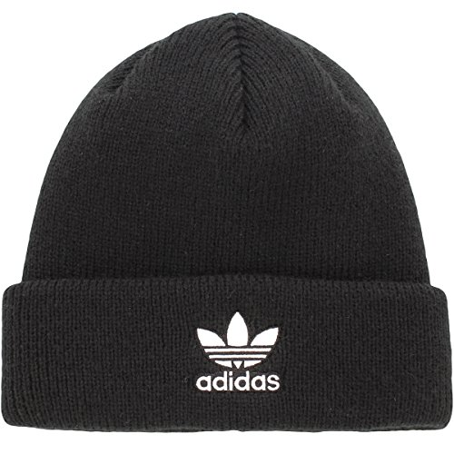 adidas Womens Originals Trefoil Ii Knit Beanie, Black, One (Adidas Winter Hat)