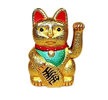 """6"""" Gato De La Suerte Maneki Neko Saludando Lucky Cat (muchos colores) -"""