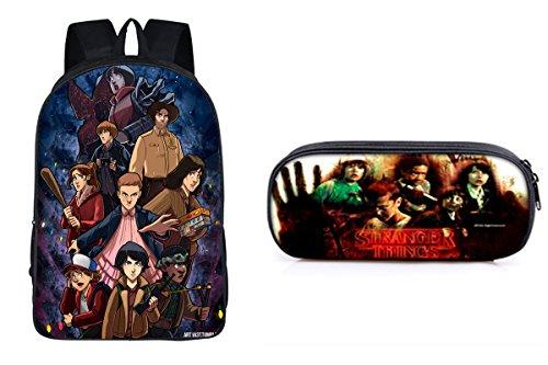 2 Pack Stranger Things Inspired Children School Backpack 16