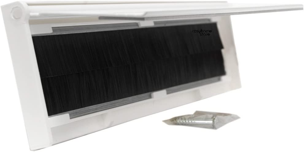 Silver Finish Letter Box Cover with Brush /& Flap for Internal OR External Use