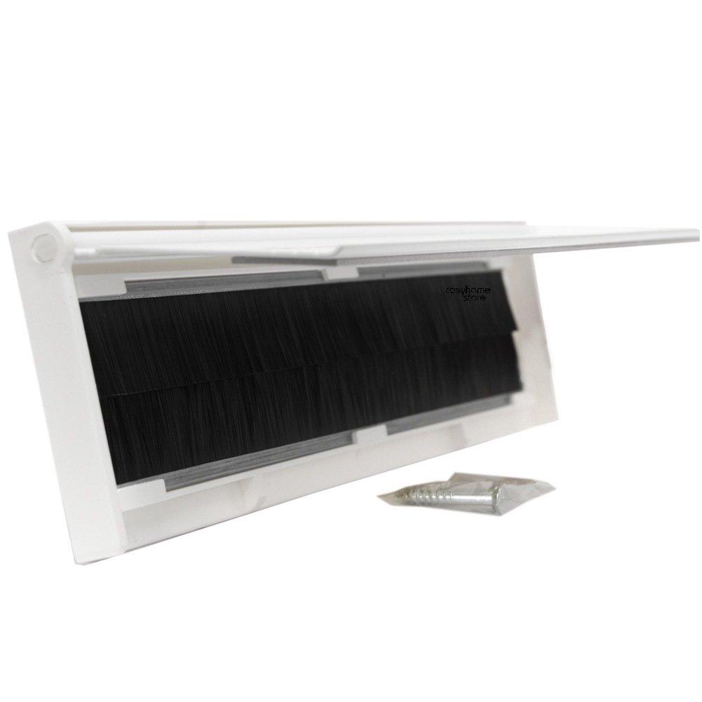Stormguard Fente /à lettres en m/étal pour porte avec brosse et rabat blanc