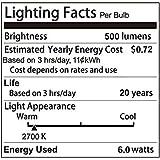 Dimmable Edison LED Bulb, Kohree 6W Vintage LED Filament Light Bulb, 2700K Soft White, 60W Incandescent Equivalent, E26 Medium Base Lamp for Restaurant,Home,Reading Room,Office, 6-Pack