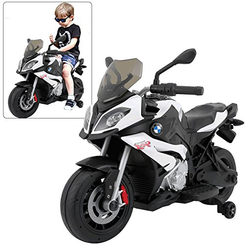 Rastar BMW S1000 XR Motorcycle Kids Ride On Car White | Official Licensed 12V Battery Baby Car Toy
