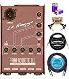 LR Baggs Para Acoustic DI Box Bundle with Blucoil