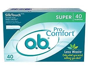 o.b. Pro Comfort Applicator Free Digital Tampons, Super - 40 Count