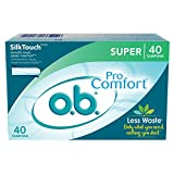 o.b. Pro-Comfort Non-Applicator Tampons, Super Absorbancy, Pack of 40 Tampons