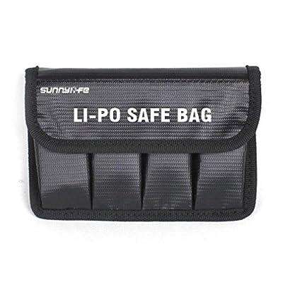 Wakeu 4-Port Battery Fireproof Explosion-proof Safety Storage Bag Case For DJI Mavic Pro