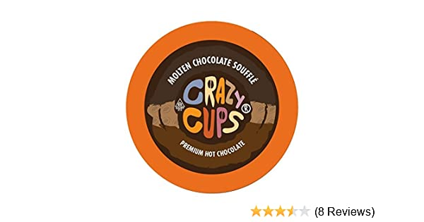 Crazy Cups Seasonal Hot Chocolate, Molten Chocolate Souffle Hot Chocolate Hot Cocoa, Single Serve Cups for Keurig K Cup Brewers, 22 Count: Amazon.com: ...