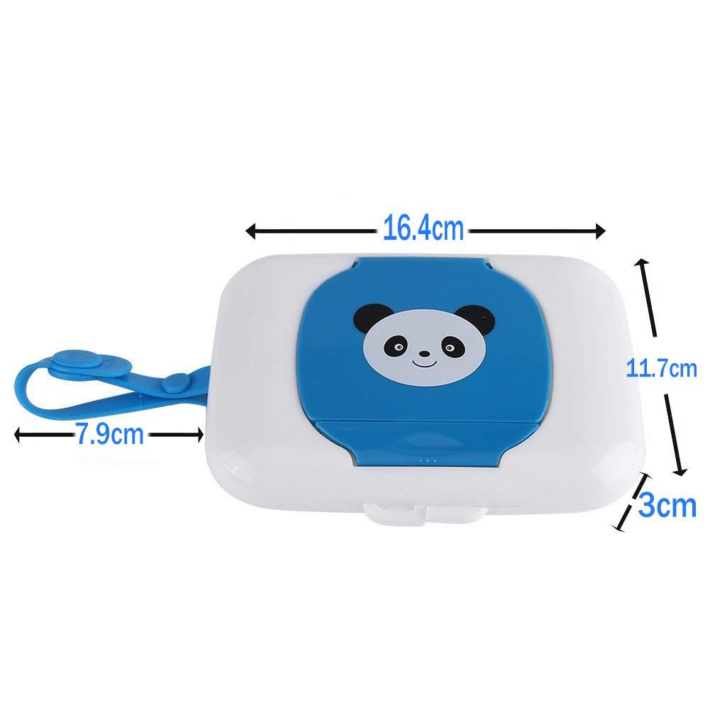 Xrten Panda Bo/îte a Lingettes B/éb/é Distributeurs de Lingettes Suspendus Bo/îte Blanc//Bleu