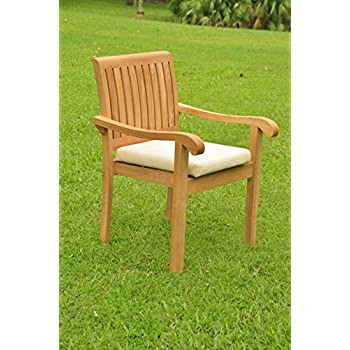 Amazon.com: WholesaleTeakFurniture Grade-A Teak Wood Marley ...