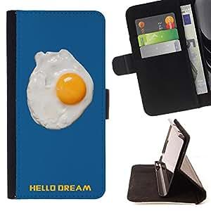 Skull Market - FOR HTC One M7 - hello sweet dream - Caja de la carpeta del tir¨®n del cuero de la PU [con ranuras para tarjetas y cierre de solapa magn¨¦tica] P¨¢rese cubierta de la caja