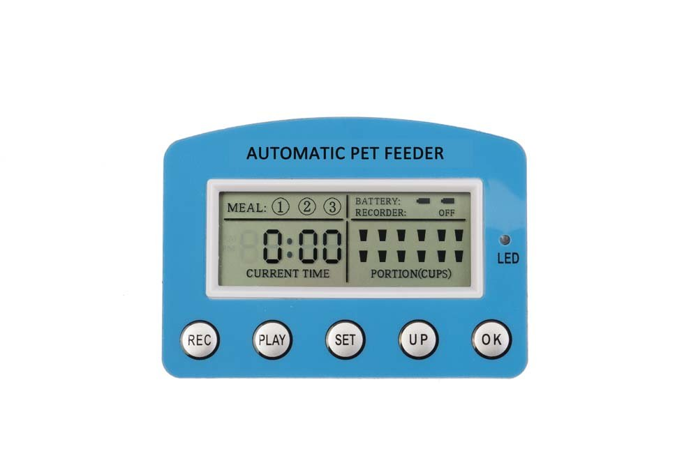 DecoStain Programmable Automative Pet Feeder for Cat,Dog,Rabbit and other Small Animals with Voice Reminding.Dual Power Supply,LCD Display (Capacity 5L) by DecoStain (Image #4)