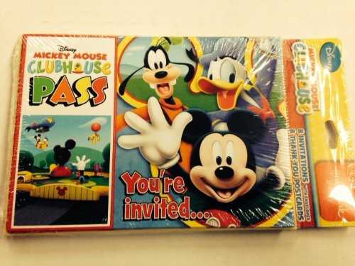 Mickey Mouse Party Invitations - Mickey Mouse 'Playtime' Invitations and Thank You Notes w/Envelopes (8ct ea.)