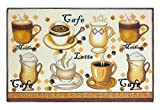 Cafe Latte Kitchen Rug Mat 18 x 28 Inches with Non Skid Back
