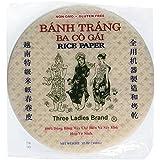 Three Ladies Spring Roll Rice Paper Wrappers (Round 22cm 3pks)
