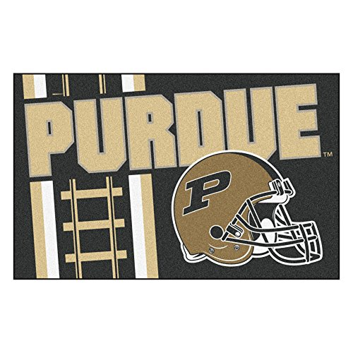 (FANMATS 18775 Purdue 'Train' Uniform Inspired Starter Rug)