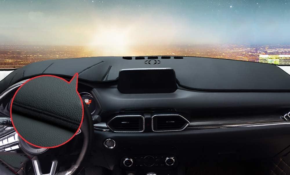 Leegi AAGIILEEYO Car Dash Mat Protector Sunshield Cover Carpet Flannel Custom Fit Dashboard Cover Fit for 2017 2018 2019 Mazda CX-5 CX5,Black with Black
