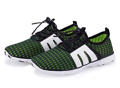 Lanbaosi Femmes Et Hommes Mesh Trous De Drainage Anti-dérapant Chaussures De Séchage Rapide De Leau Vert