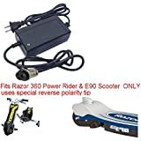 Charger for Razor 360 Power Rider & E90 Electric Scooter & Razor Jr Electric Wagon BY PurePowerAdapters