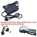 Charger for Razor Power Rider & E90 Electric Scooter & Razor Jr Electric Wagon BY PurePowerAdapters 360