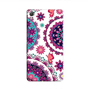 Cover It Up - Flower Design White Xperia Z3 Hard Case
