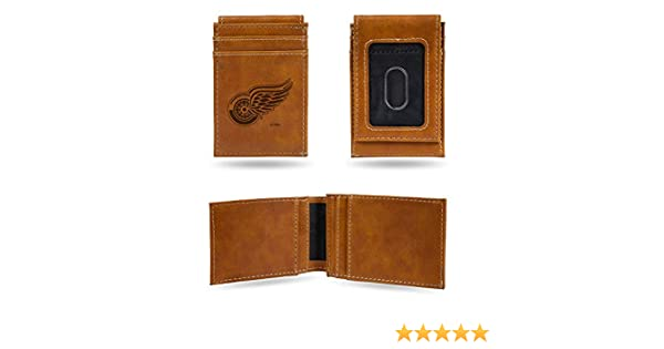 NHL Rico Industries  Laser Engraved Billfold Wallet Detroit Red Wings