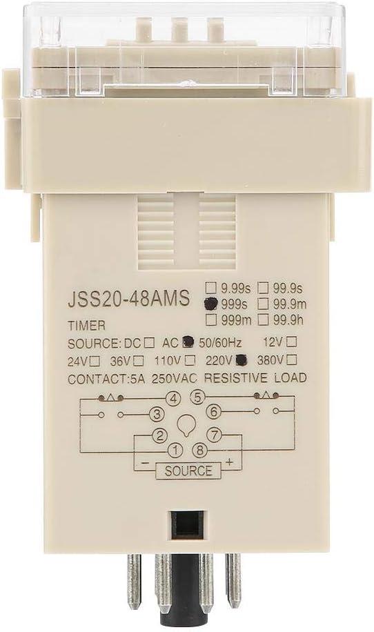 JSS20-48AMS Temporizador de relevo,digital Temporizador Rel/é Encendido Retardo Rel/é 1-999S AC 220V
