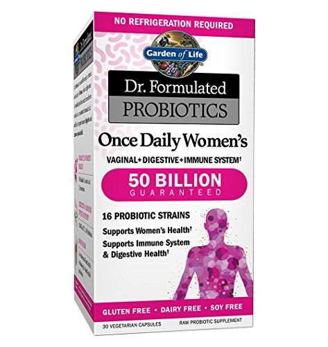Garden of Life Probiotics Supplement for Women – Dr. Formulated Once Daily Women's for Digestive and Gut Health, Shelf Stable, 30 Capsules