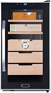 Whynter CHC-172BD Elite Touch Control Stainless 1.8 cu.ft. Cigar Humidor with LED Panel, Black