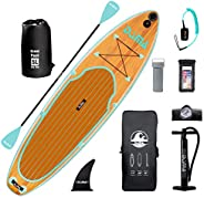 """DAMA 9'6""""/10'6""""/11'Inflatable Stand Up Paddle Board, Yoga Board, Camera Seat, Floating P"""