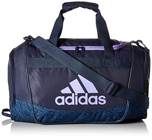 adidas Defender II Small Duffel Bag, One Size, Trace Blue/Trace Blue Compass/Light Flash Purple