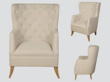 The One Duke - Sillón de Tela Color Beige, Color Beige, con ...