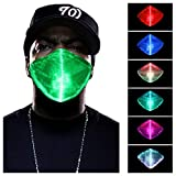 LED Light up Mask Luminous Glowing Masks for Party Festival Dancing Gift,7 Colors White