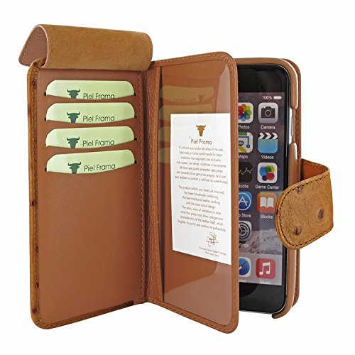 Piel Frama 717 Tan Ostrich WalletMagnum Leather Case for Apple iPhone 6 Plus / 6S Plus by Piel Frama (Image #5)
