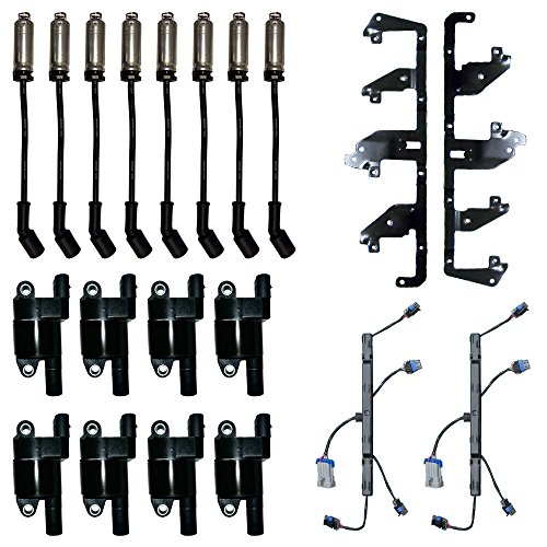 8 ADP Ignition Coils + Herko Bracket and Harness + 8 Herlux Spark Plug Wires with Heat (Ignition Shield Bracket)