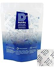 Dry & Dry 2 Gram [100 Packets] Food Safe Silica Gel Packs Desiccants Silica Gel Silica Gel Packets - Rechargeable Moisture Absorbers, Silica Gel Packs