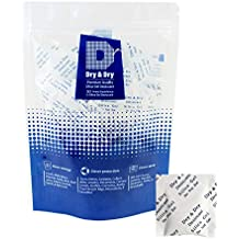 Dry & Dry 2 Gram Premium Pure & Safe Silica Gel Packets Desiccant Dehumidifier - Rechargeable Paper(Food Safe FDA Compliant) Silica Gel Packs