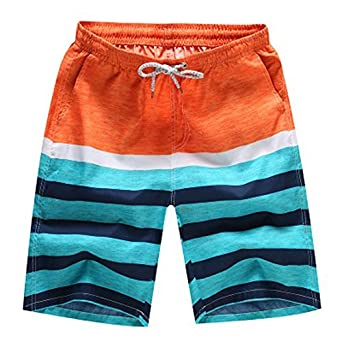 dc3a0da879 Xiton Printed Men Swim Shorts Fast Dry Swimming Trunks Adjustable Draw Cord  Beach Short Pants Internal Mesh Shorts Swim Pants- for Swimming, Summer  Beach ...